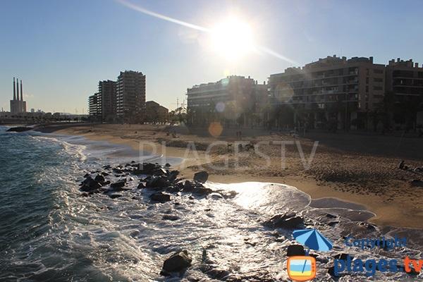 Front de mer de Badalona et sa plage