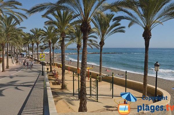 Promenade en front de mer de Marbella - secteur Bajadilla