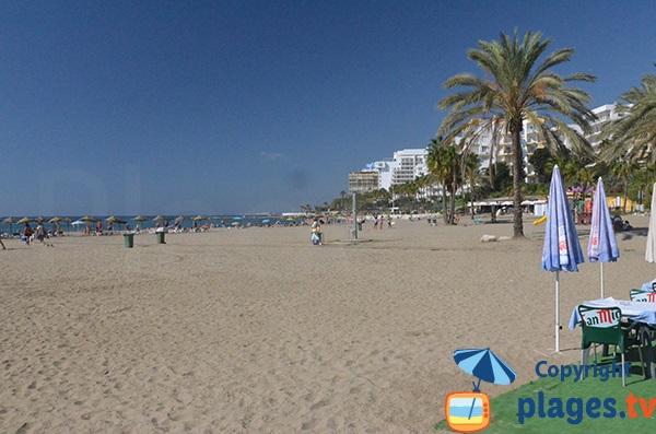 Photo de la plage de Bajadilla à Marbella - Espagne