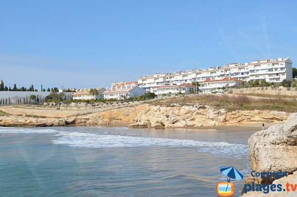 Nudist beach in Sitges in Spain