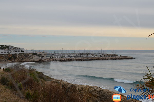 Balmins beach and port of Sitges