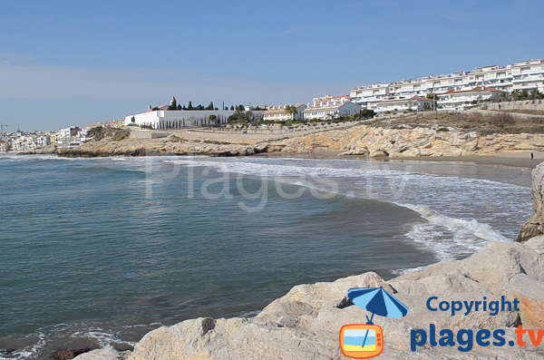 Plage des Balmins à Sitges