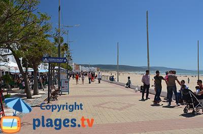 Plage et front de mer de Barbate en Espagne