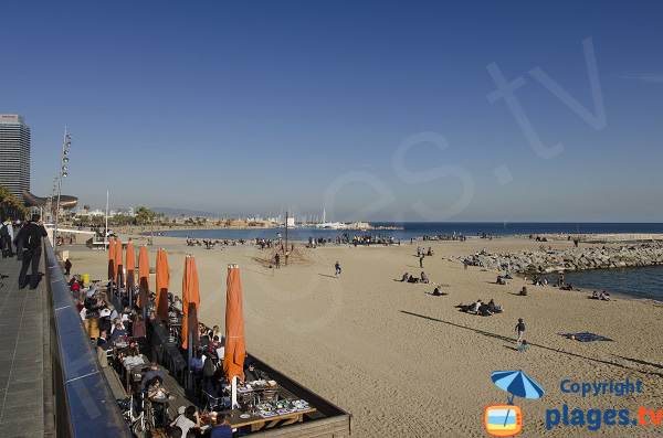 Photo de la plage de Barceloneta - Barcelone - Espagne