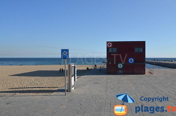 Poste de secours de la plage de Bogatell - Barcelone