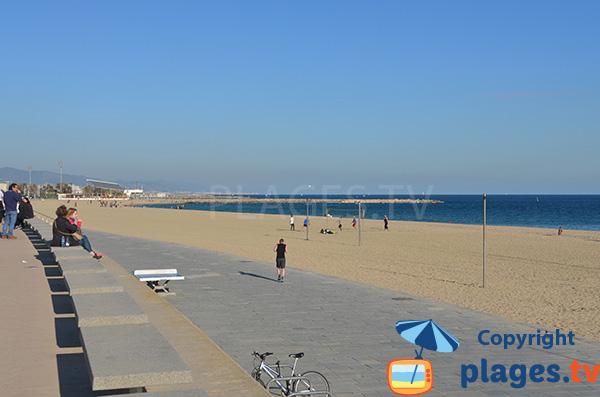 Accès à la plage de Bogatell - Barcelone