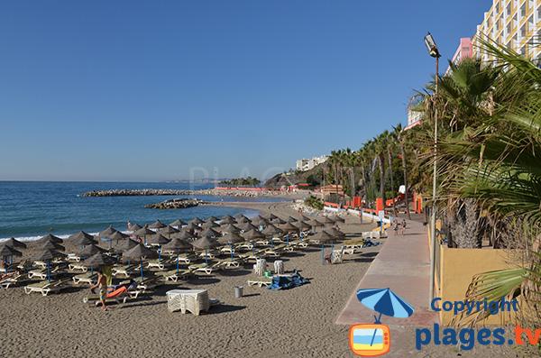 Photo de la plage de Bonita à Benalmadena en Espagne