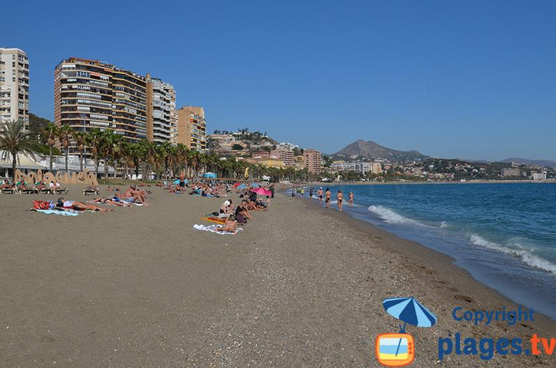 Plage principale de Malaga