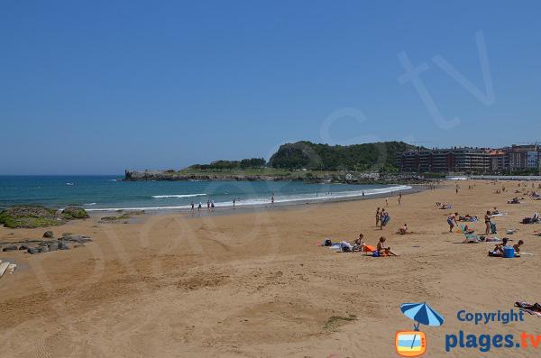 Photo de la plage de Brazomar à Castro Urdiales en Espagne (Cantabrie)