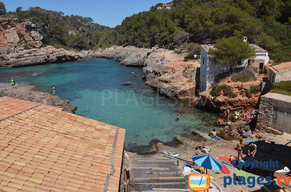 Maisons autour de Cala Almunia à Majorque