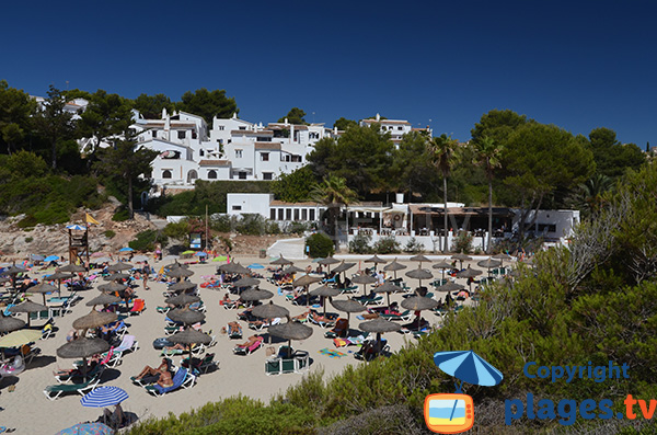 Restaurant sur la plage de Cala Anguila à Majorque - Porto Cristo