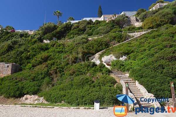 Accès à la Cala Antena sur l'ile de Majorque
