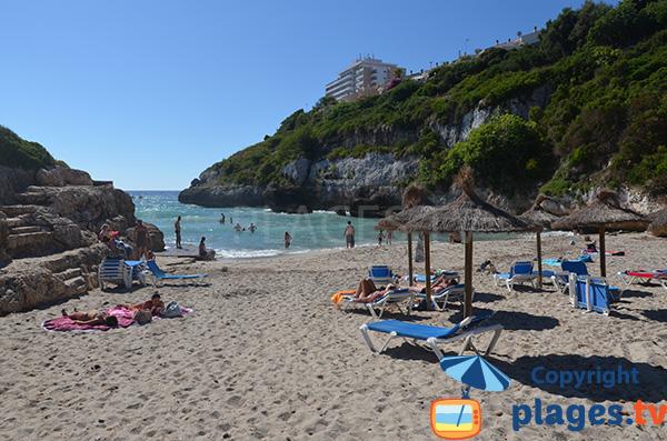 Espace public sur la plage de Cala Antena - Cales Mallorca
