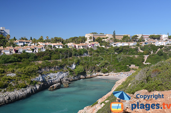 Photo de la plage dans la Cala Antena à Majorque