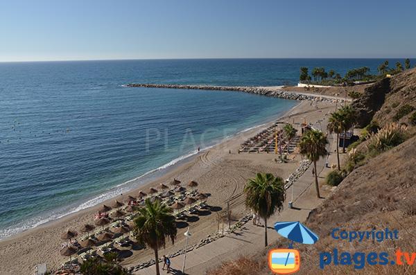 Photo de la plage de la Cala à Benalmadena - Andalousie