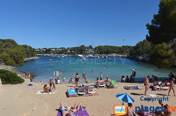 Photo de la plage de la Cala dels Homes Morts - Portopetro - Majorque