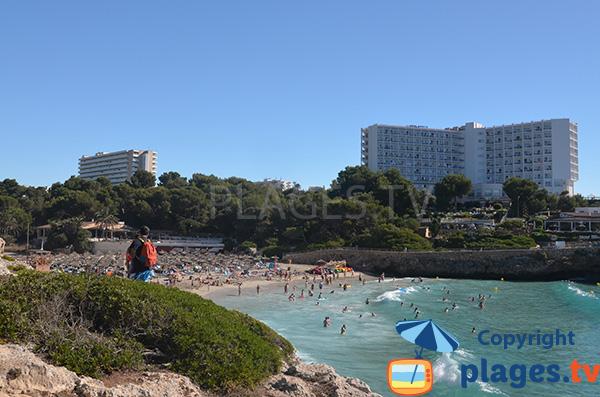 Photo de la plage de Cala Domingos à Cala Tropicana - Majorque