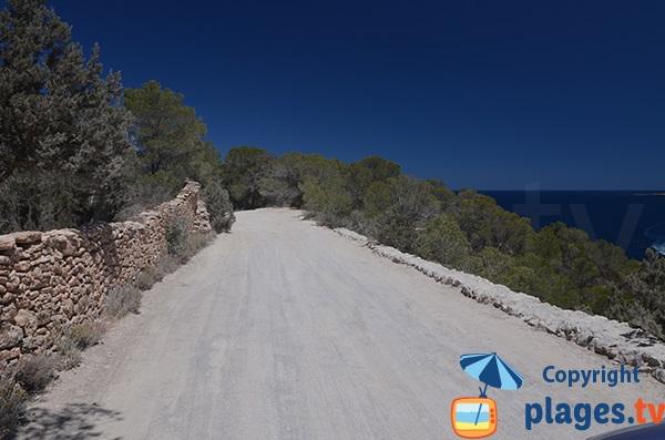 Piste de la plage d'En Serra - Ibiza