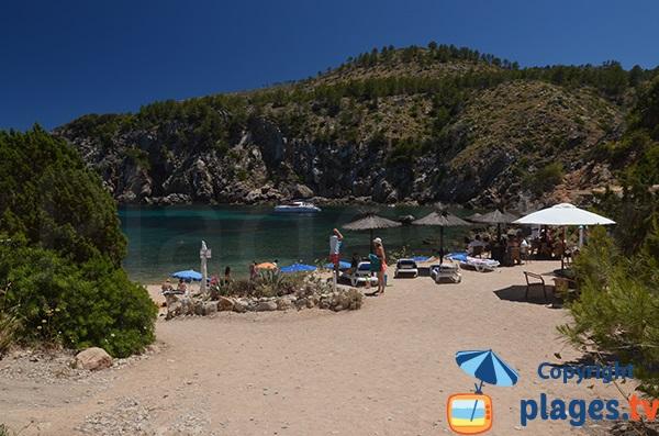 Plage de la Cala En Serra à Ibiza à proximité de Portinatx