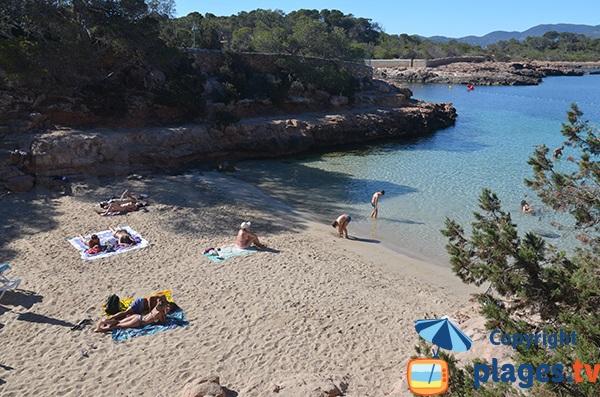 Plage de Gracioneta à Sant Antoni - Ibiza