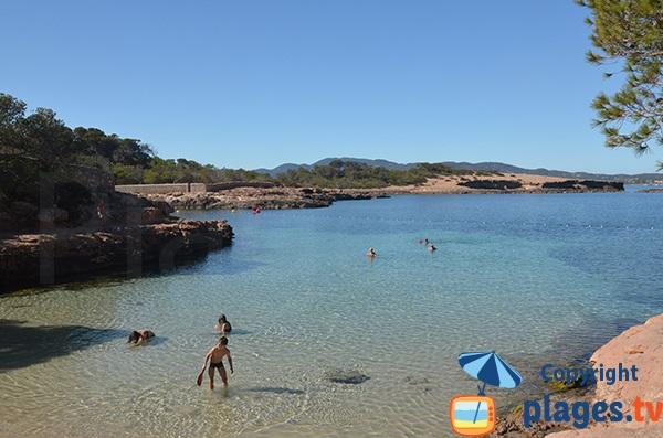 Plage à Ibiza pour les enfants - Gracioneta à Sant Antoni