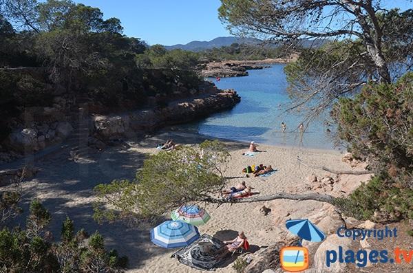 Photo de la plage de Gracioneta à Sant Antoni - Ibiza
