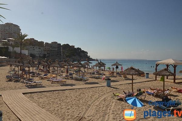 Accès à la plage de Cala Major à Palma de Majorque