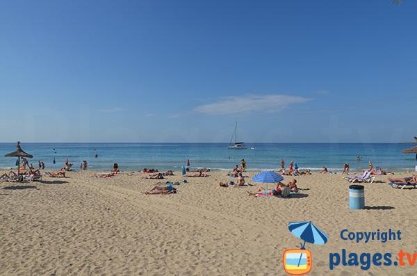 Plage publique de Cala Major à Palma de Majorque