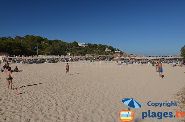Grande plage à Portocolom à Majorque