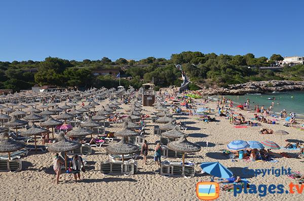 Plage de Cala Marcal à Majorque - Portocolom