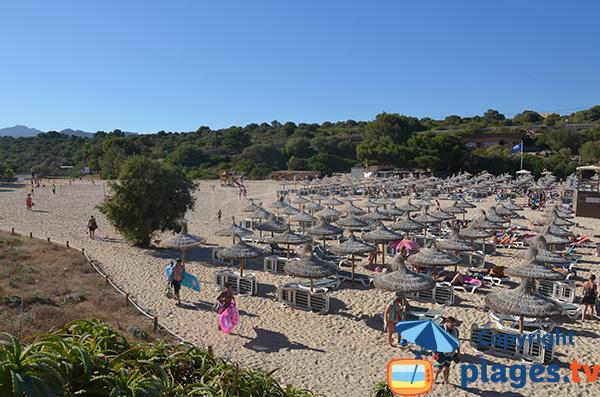Belle plage à Portocolom à Majorque