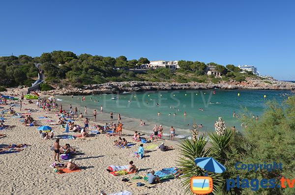 Baignade sur la plage de Cala Marcal à Majorque