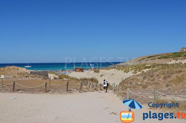 Plage de Cala Mesquida à Majorque