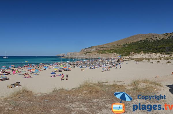 Photo de la plage de Cala Mesquida à Majorque