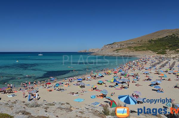 Plage tranquille dans le nord-est de Majorque - Cala Mesquida