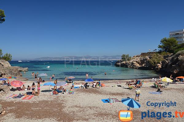 Vue sur la baie de Palma depuis la crique de Cala Moques - Cala Blava