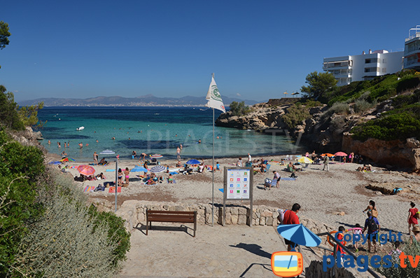 Accès à la crique de Cala Moques à Majorque
