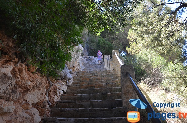 Escaliers de la plage Cala Pi - Majorque