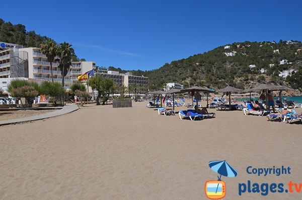 Hôtels le long de la plage de la Cala Sant Vicent - Ibiza