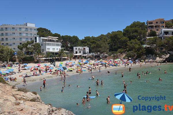 Plage de la Cala de Santanyi à Majorque