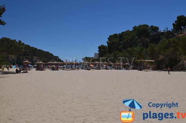 Grande crique de sable à Santanyi - Majorque