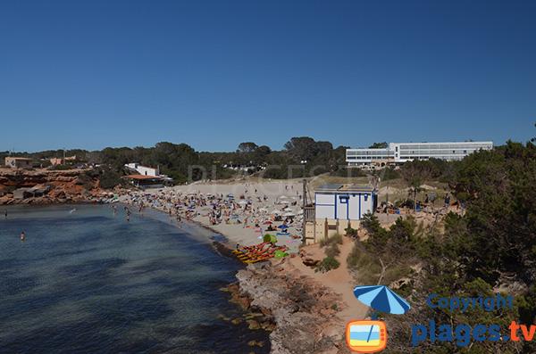 Photo de la plage de la Cala Saona à Formentera