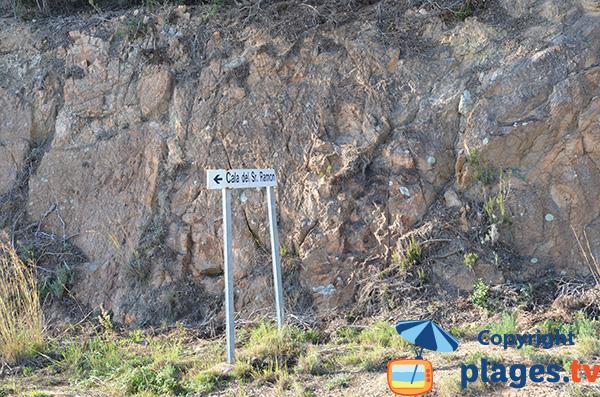 Accès à la crique de Sr Ramon sur la Costa Brava