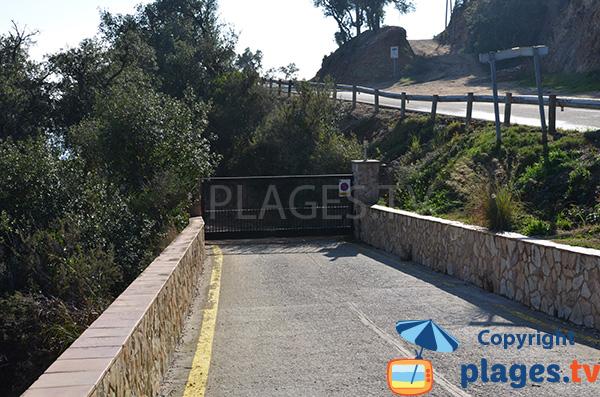 Route d'accès à la cala de St Ramon - Tossa de Mar