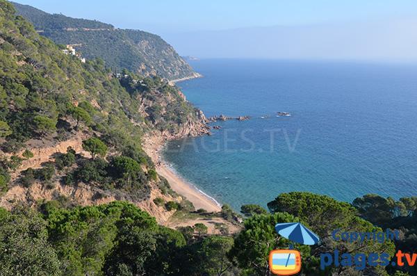 Photo de la plage dans la Cala de Sr Ramon à Tossa de Mar - Costa Brava