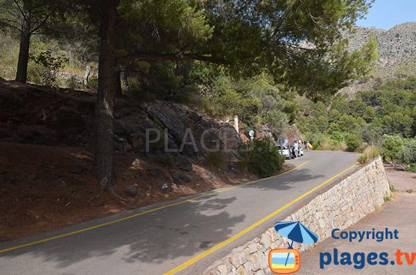 Parking de la plage de Cala Tuent - Majorque