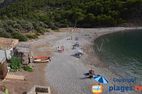 Photo de la plage de la Cala Huent - Escorca - Majorque
