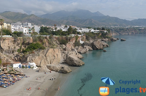 Plage de Calahonda à Nerja - Andalousie