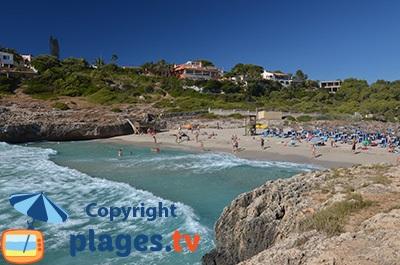Plage à Calas Mallorca aux Baléares