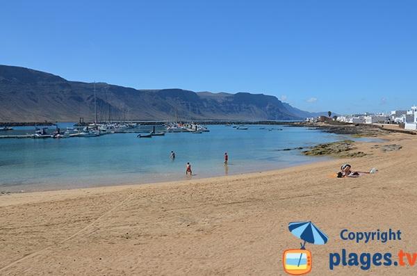 Beach of Caleta de Sebo in La Graciosa